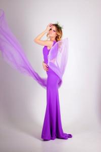 violet jurk