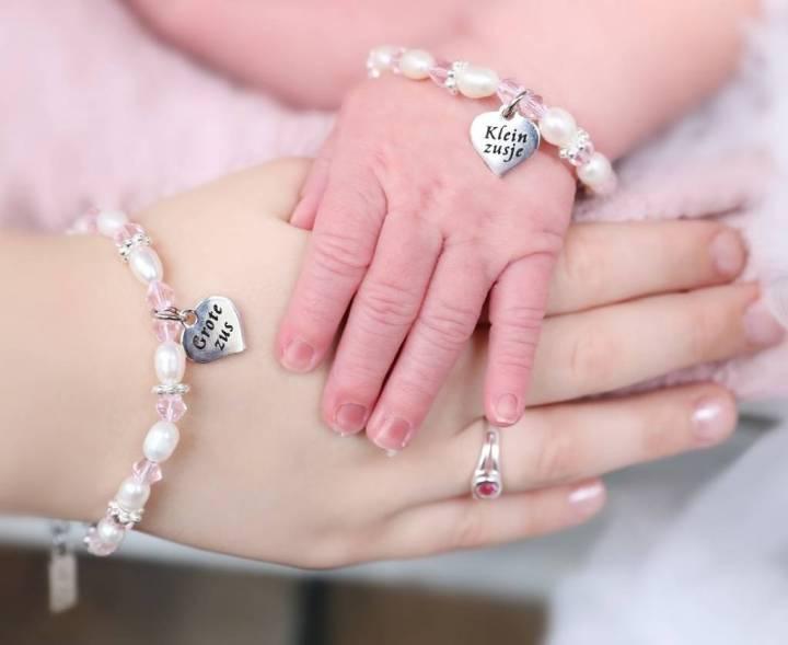 grote en kleine zus armbandjes