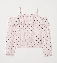 H&M roze stippelbloes