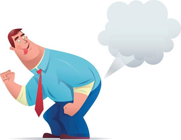 vector character of funny businessman farting…