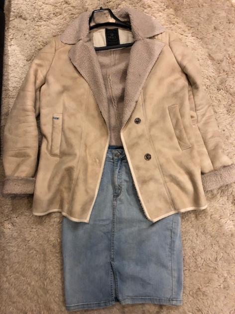 denim rok en lammy coat