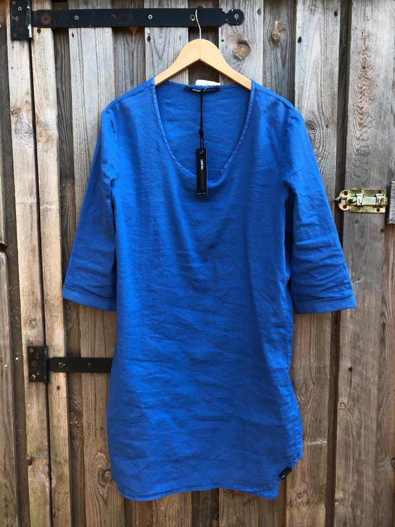 linnen jurk blauw Penn&Ink N.Y.